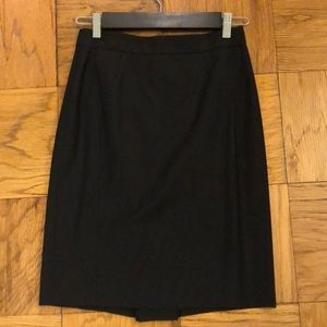 Ann Taylor Navy Tropical Wool Pencil / Suit Skirt
